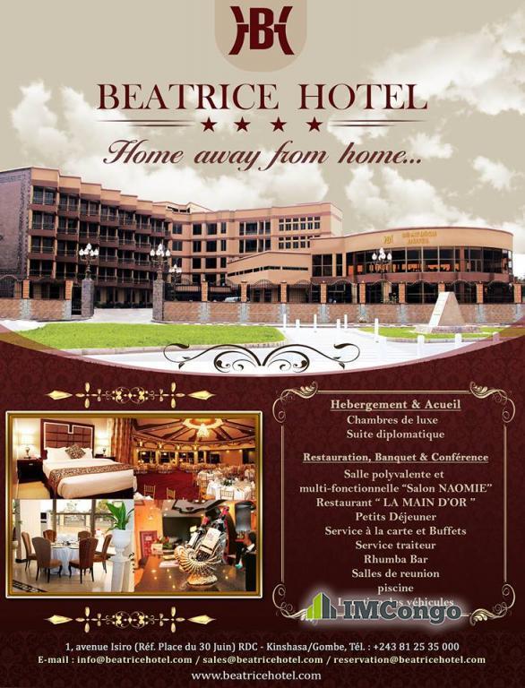 A louer Béatrice - Hôtel**** Kinshasa Gombe