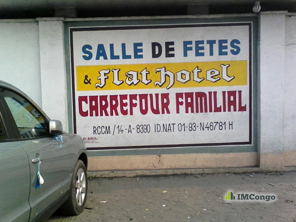 A louer Flat Hôtel Carrefour Familial Kinshasa Lemba
